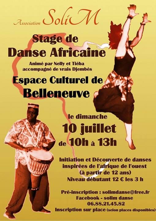 Affiche stage danse africaine 10 07 16