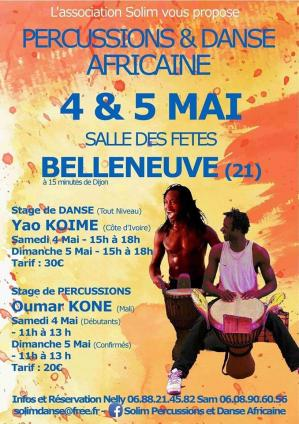 Affiche stages danse solim 4 5 05 19