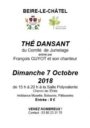 Affiche the dansant comite jumelage 07 10 18