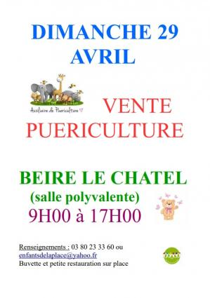 Affiche vente pueri enfants de la place 29 04 18