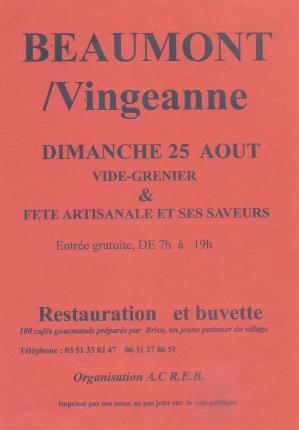 Affiche vg fete artisanale beaumont 25 08 19