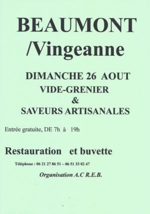 Affiche vg saveurs artisanales acreb 26 08 18