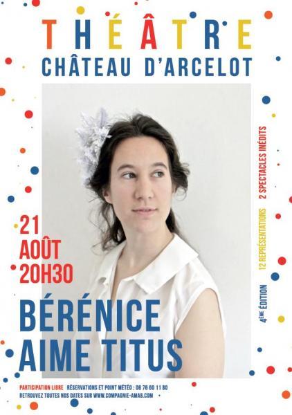 Berenice aime titus affiche arcelot