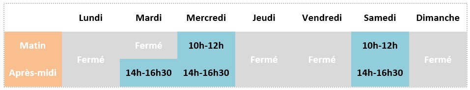Horaires mirebeau hiver grossesse md