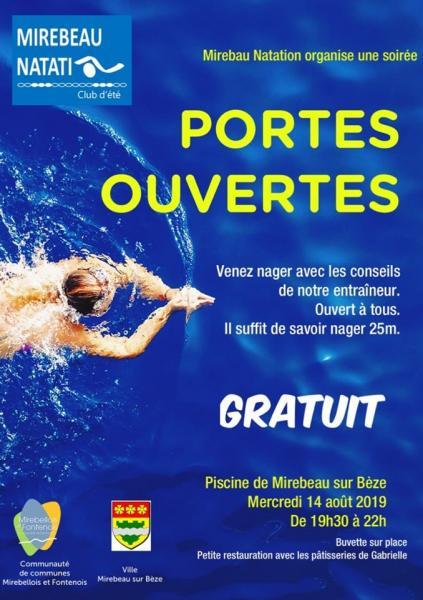Portes ouvertes natation
